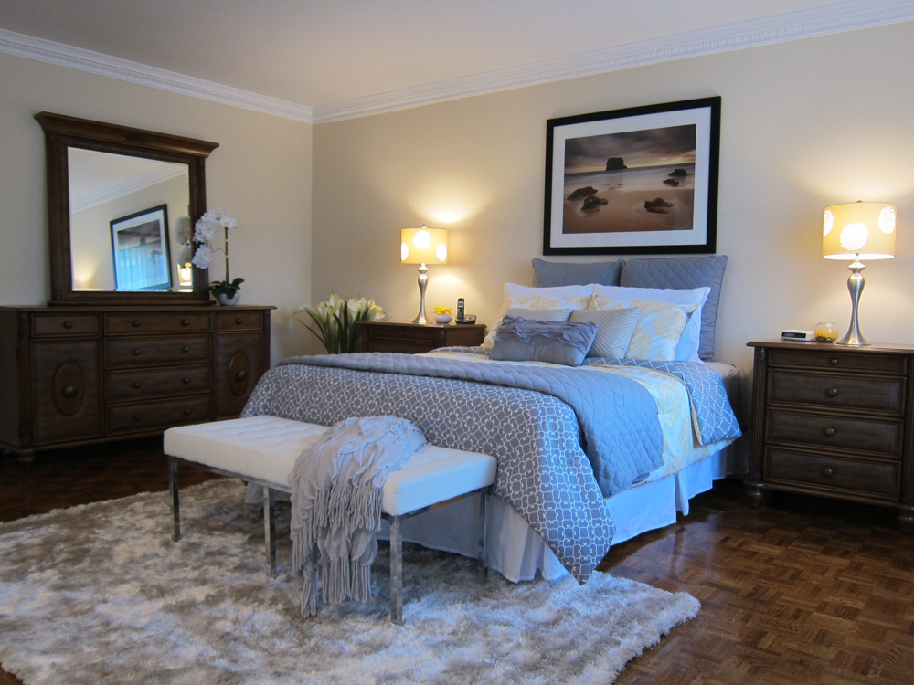 Home staging Master bedroom home staging